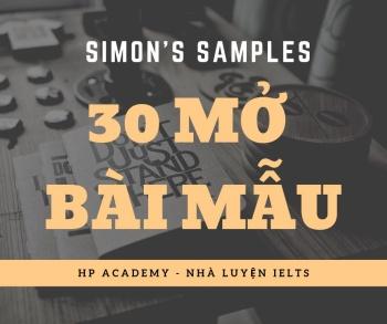 [WRITING] CÁC MỞ BÀI MẪU TRONG WRITING TASK 2 - SIMON'S SAMPLES.