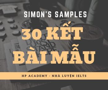 [WRITING] 30 CÁCH KẾT BÀI MẪU - SIMON'S SAMPLES