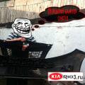 Передний бампер Киа Рио-3 снят
