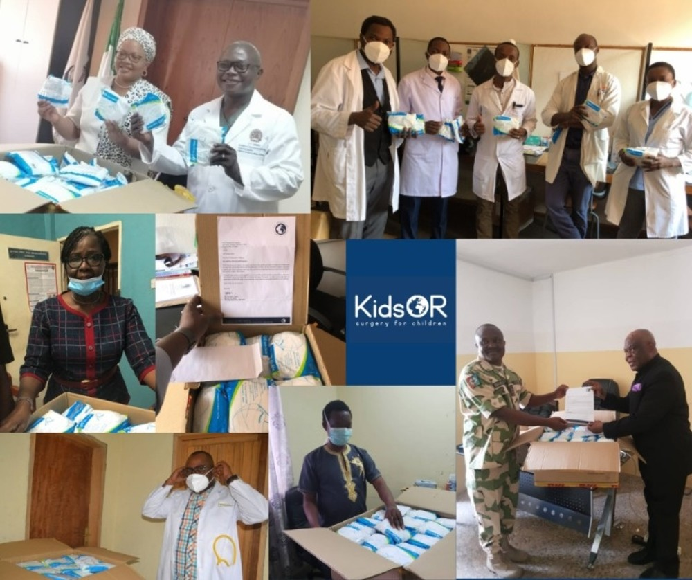 The photo shows some of our partners taking delivery of the masks in Sierra Leone; The Democratic Republic of the Congo; Zambia; and Lagos, Abuja and Kano in Nigeria.