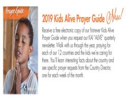 PRAYER GUIDE 2019