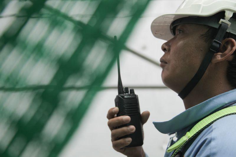 cán bộ giám sát an toàn lao động trên công trường