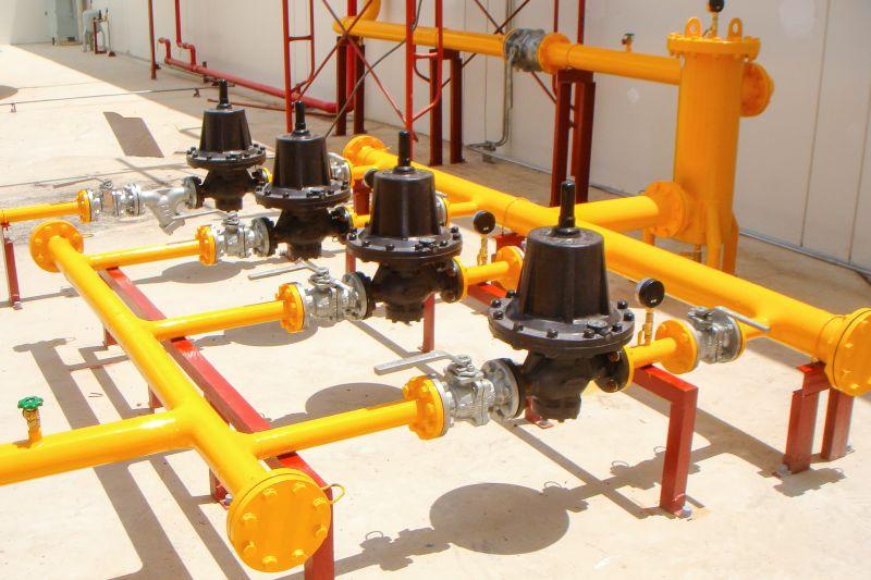 Cụm van điều áp trên hệ thống gas công nghiệp