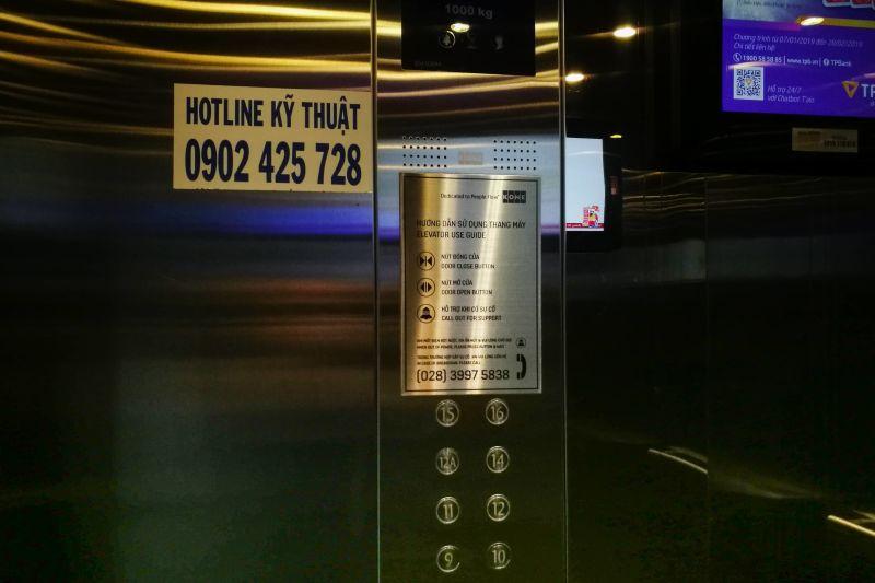 hướng dẫn sử dụng thang máy an toàn