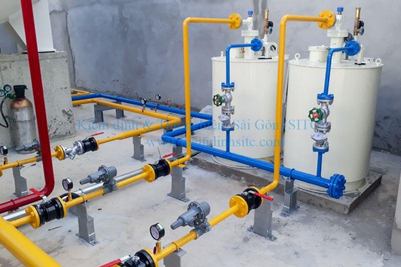 Kiểm định đường ống tại trạm cung cấp khí đốt