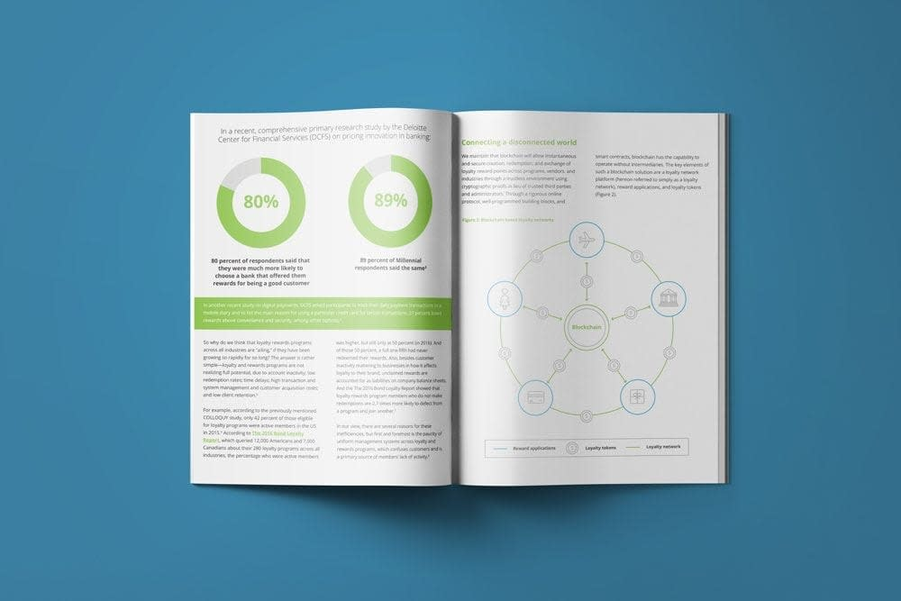 mock up of Deloitte annual report