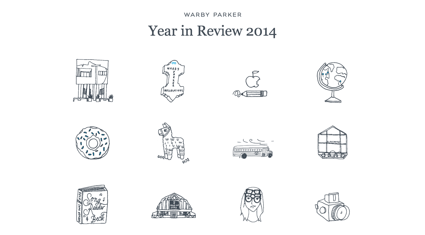 Warby Parker Annual Report Illustration