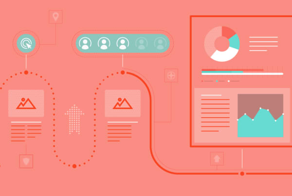 Blog illustration showing infographic elements from a design agency