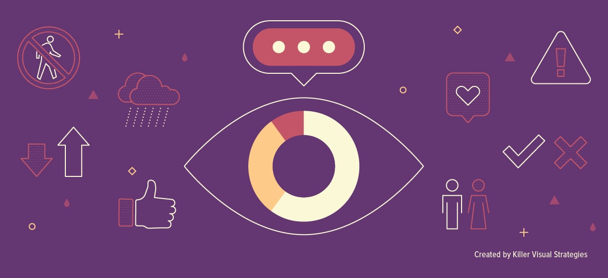 Icons and illustrations about visual communication