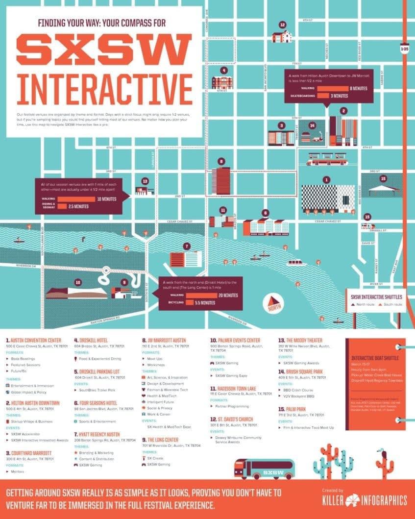SXSW Map 2015