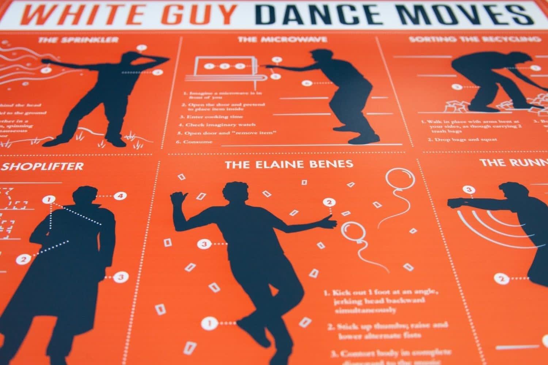 White_Guy_Dance_Moves_Poster