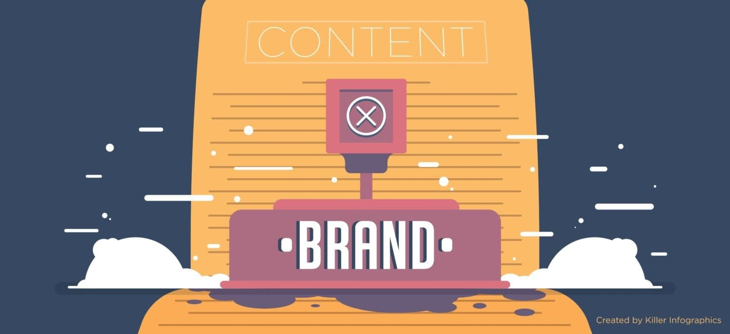 Over branding Your content Header