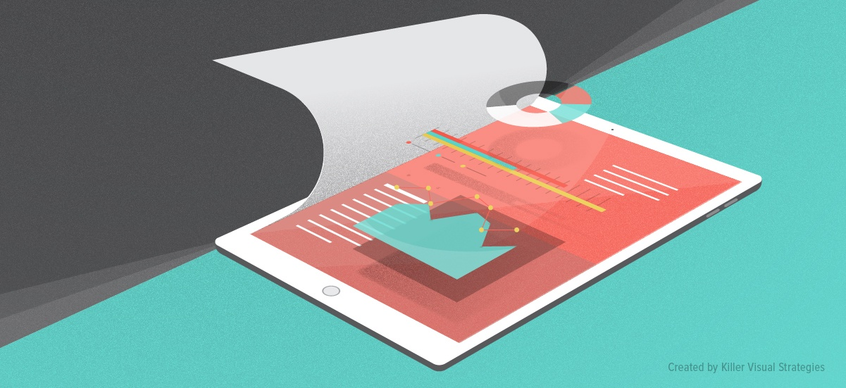 annual report infographic content example showing data visualizations marketing info