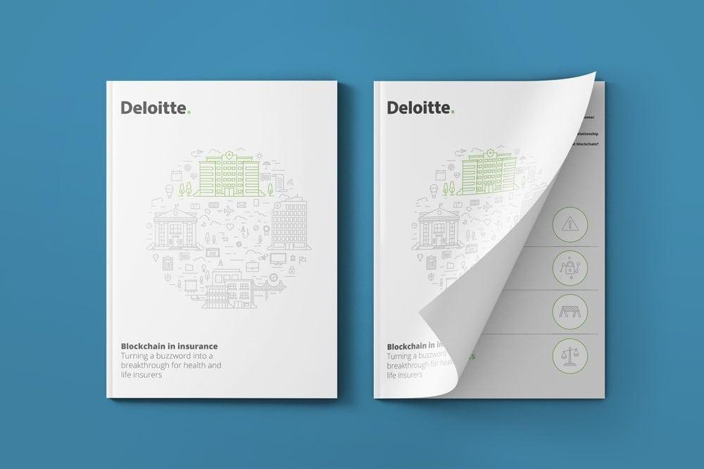 Printed visual annual report design for Deloitte