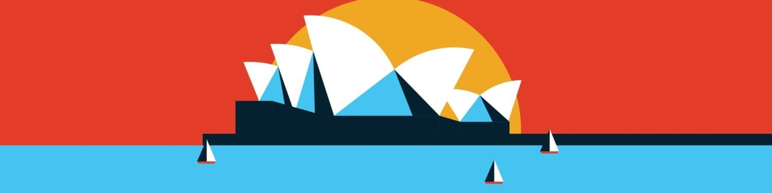 Illustration of Sydney opera house for Epson Infographic and Motion Graphic visual campaign