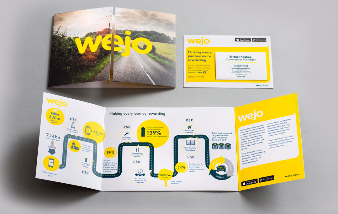 photo of Wejo branded infographic brochure