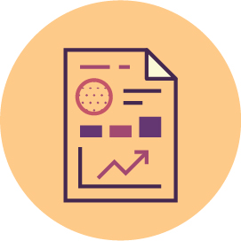 Visual Annual and Financial Reports Icon