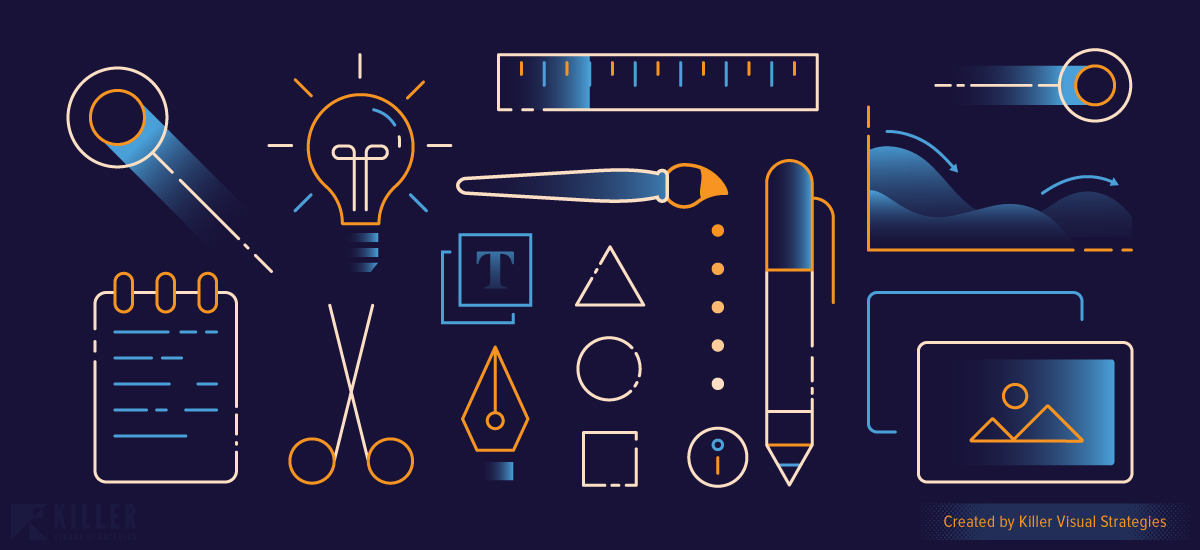 Illustration Representing Design Tips and Advice for Brand Development