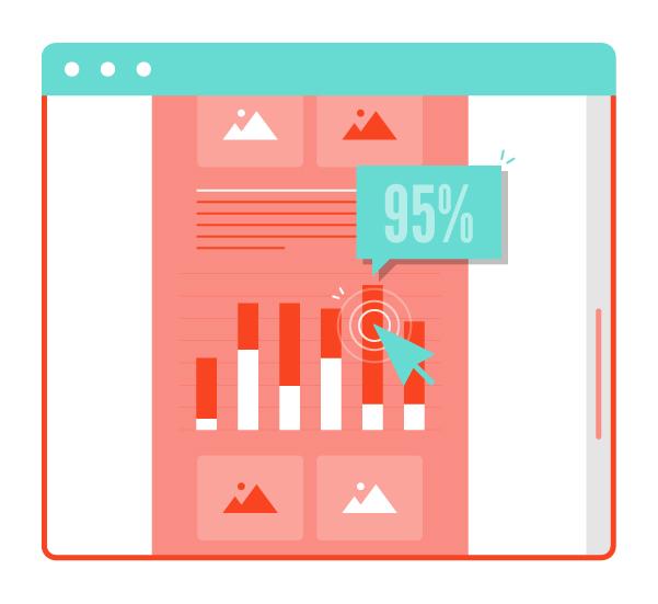 Interactive Data Visualization & Infographic Design Icon