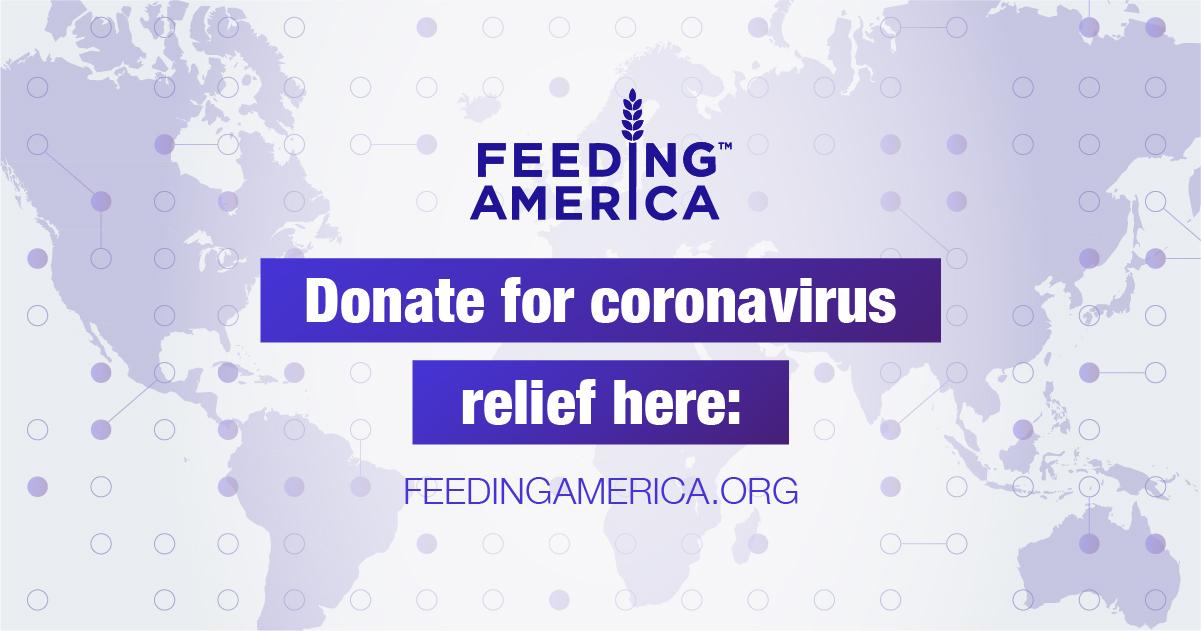 Facebook feed image to encourage coronavirus donations