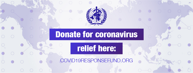 Example social media content about coronavirus relief organization