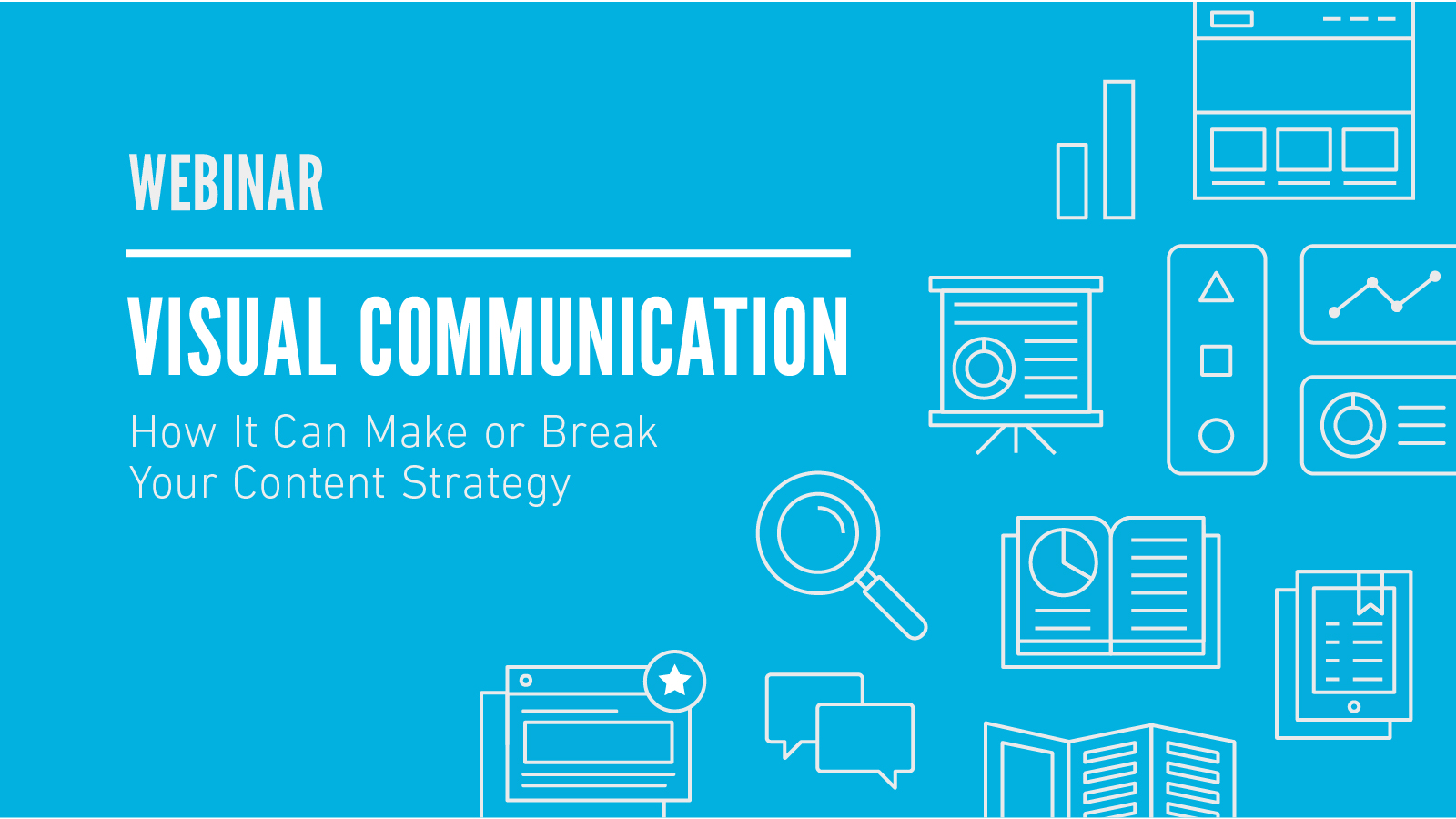 Visual communication content strategy webinar slide design