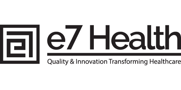 e7 Health logo created by healthcare marketing companies
