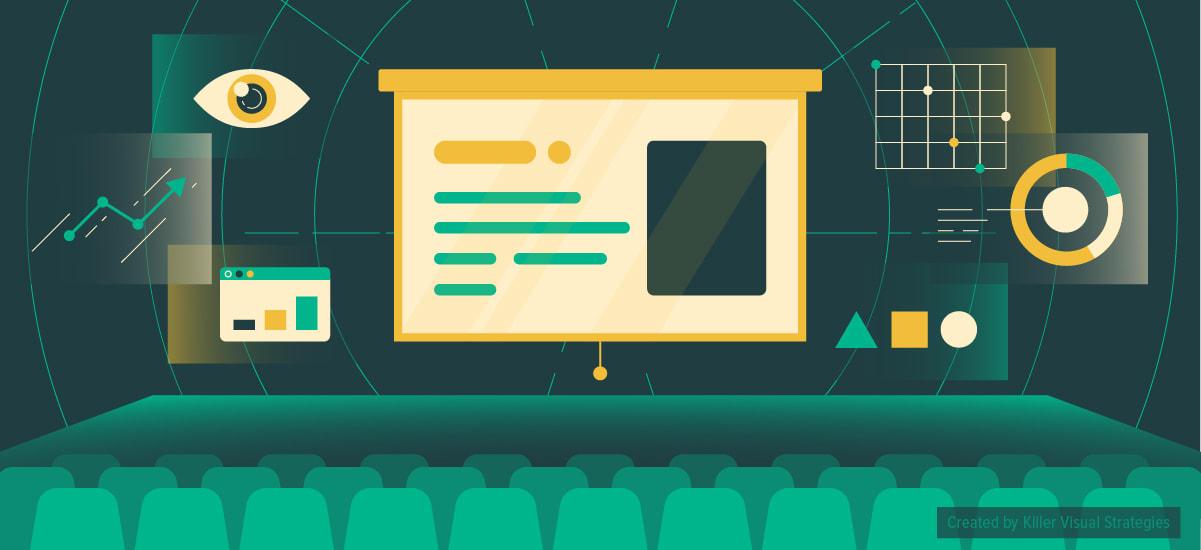 Illustration of a presentation with a killer slide deck