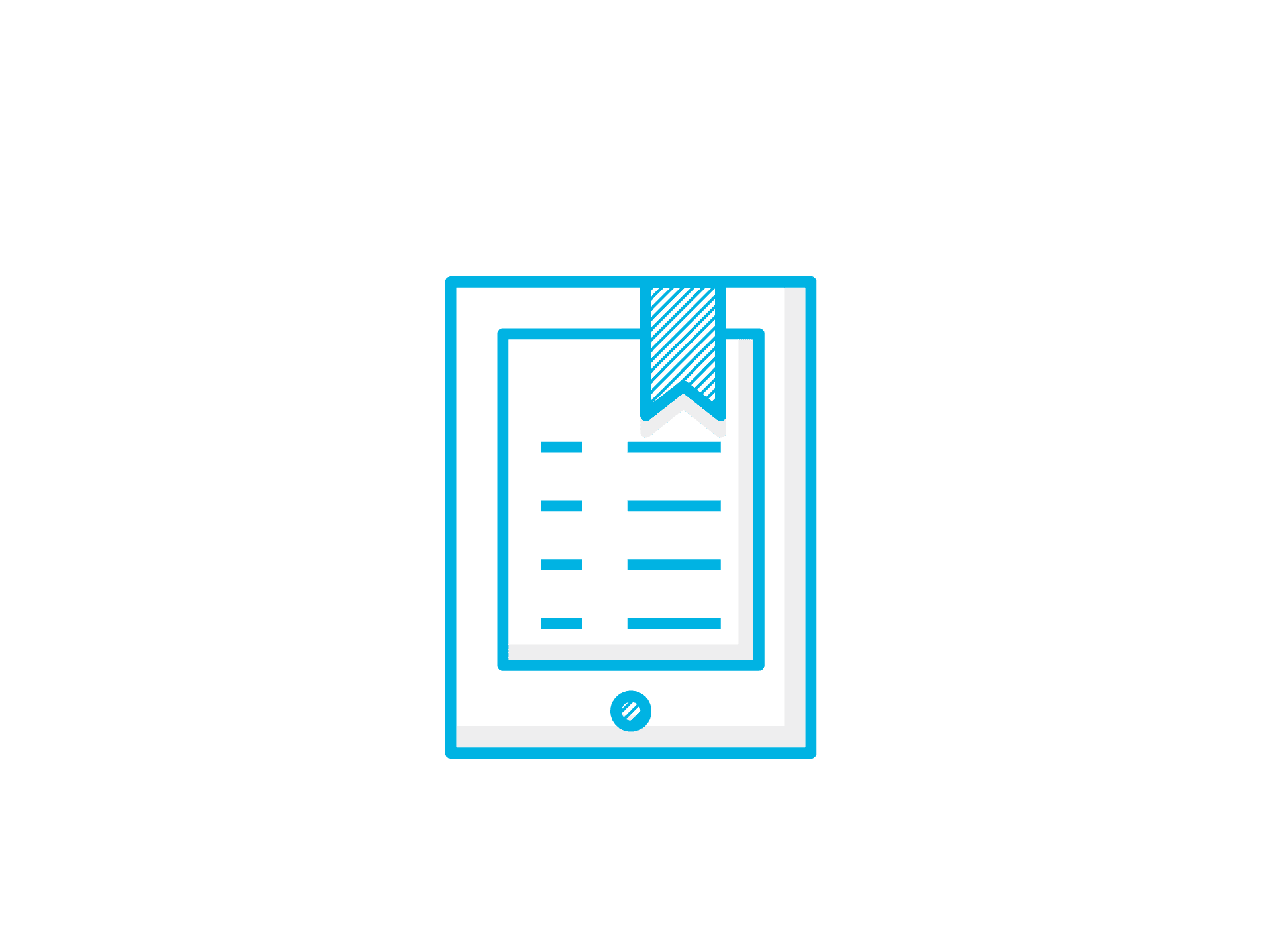 An icon of an ebook to communicate ebook design services