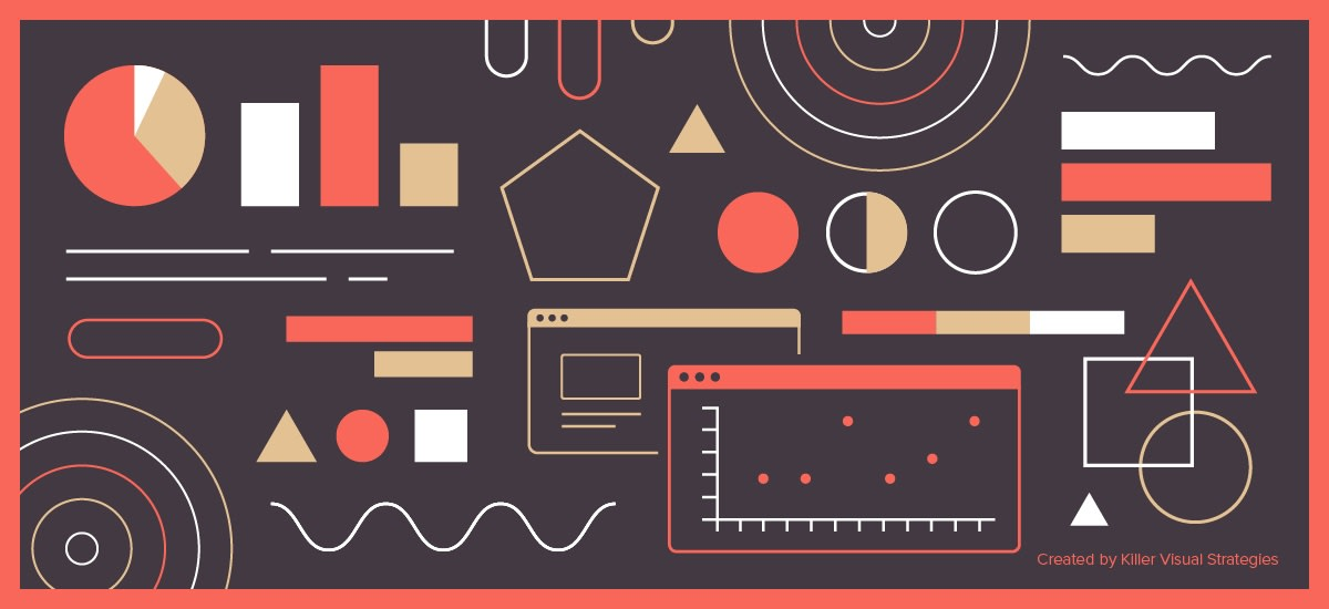 illustration of effective data visualization, including graphs & charts