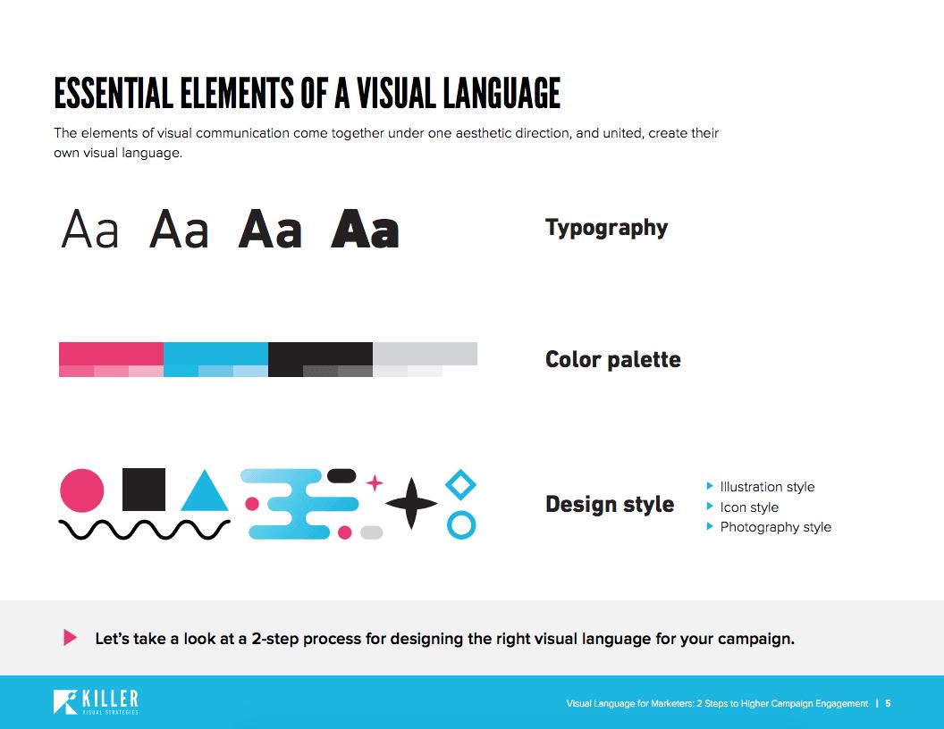visual language ebook illustration showing blue scissors and iphone