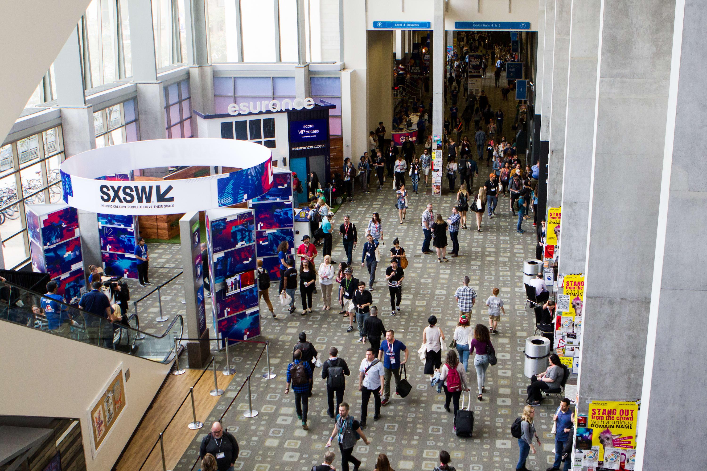 photo of SXSW interactive trade show