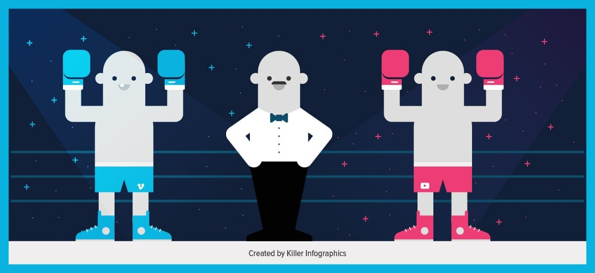 Killer Infographics Vimeo vs. YouTube