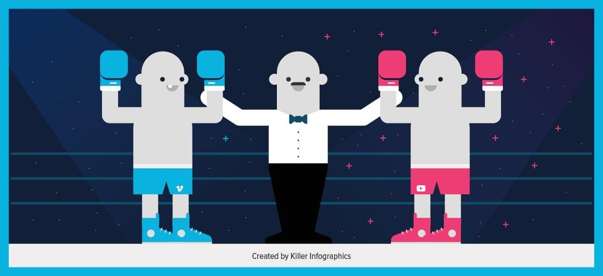 Killer Infographics Vimeo vs. YouTube