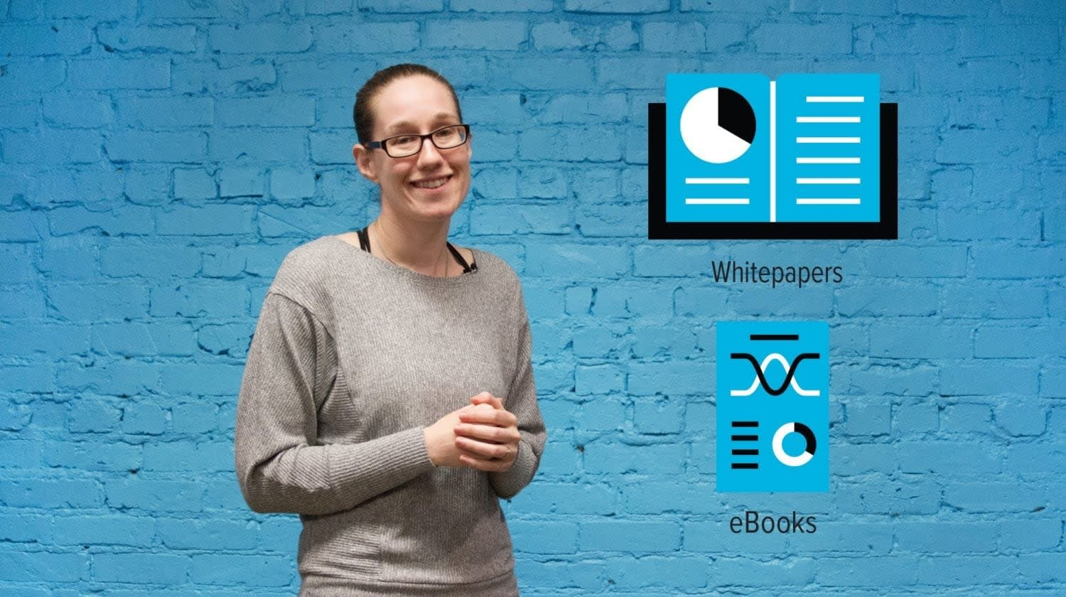 eBooks vs Whitepapers Visual Minute