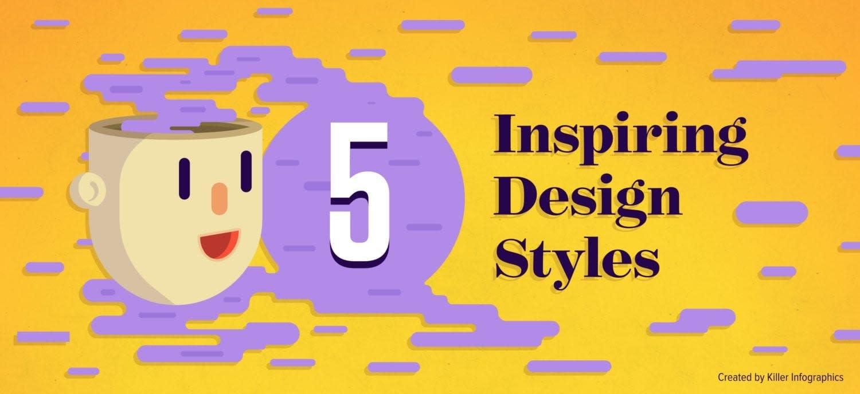 5 inspiring design styles header