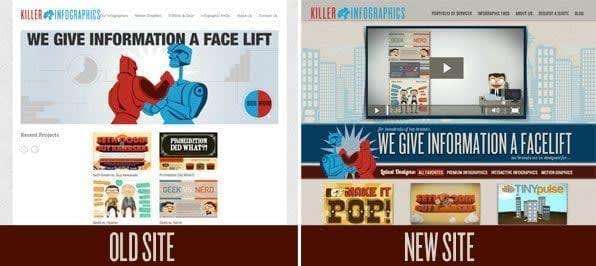 killer infographics new website design