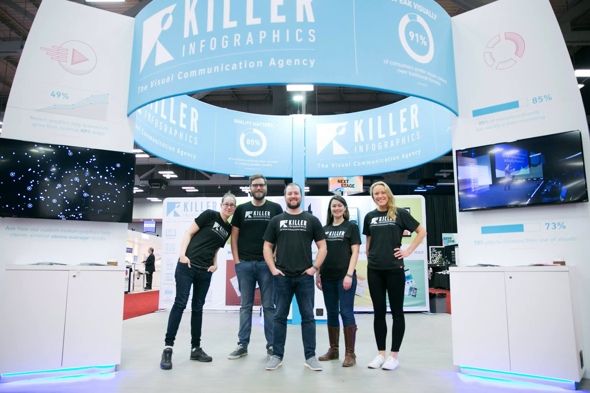 Killer Infographics SXSW 2018 Booth