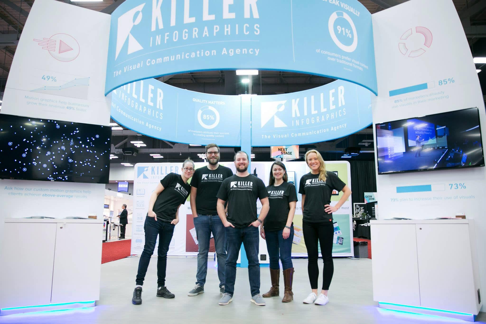 Killer Infographics SXSW 2018 Booth