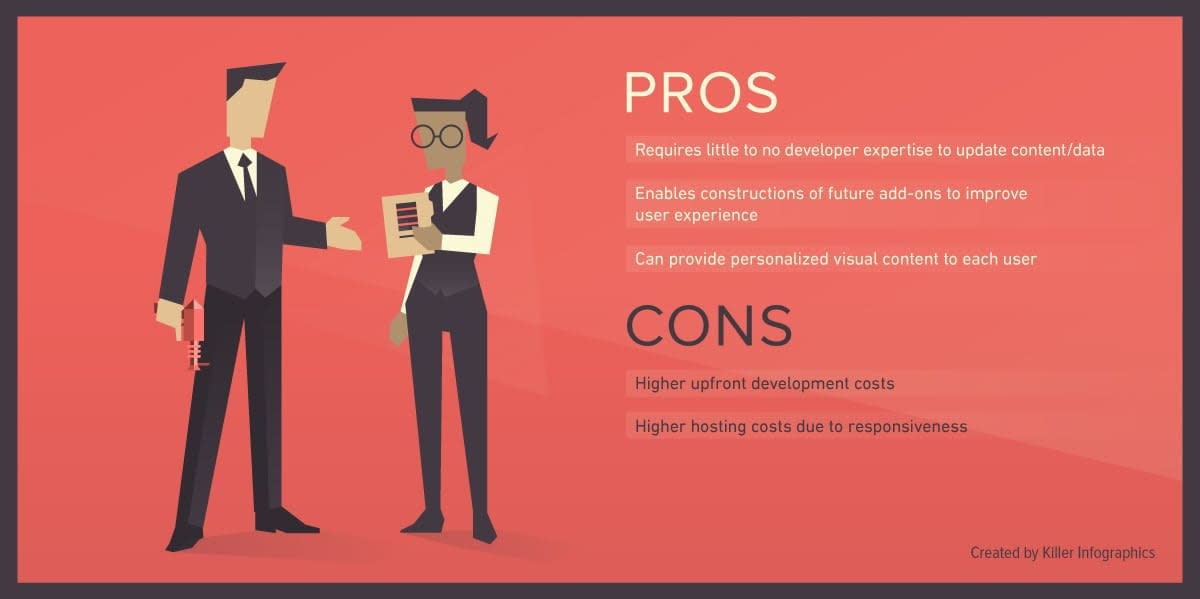 Static website pros and cons