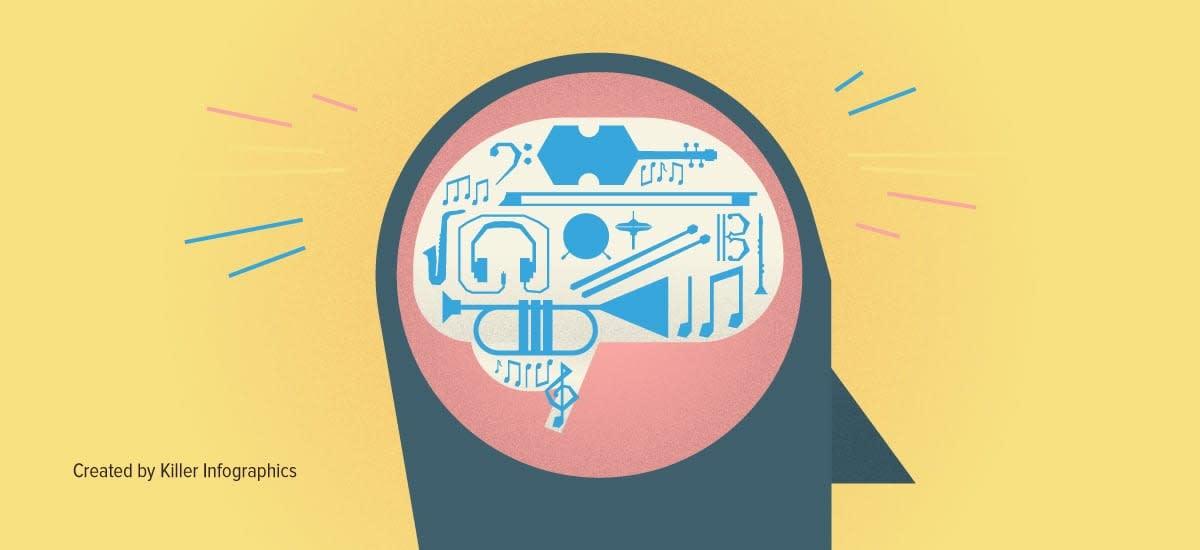 Your brain on music Killer Infographics