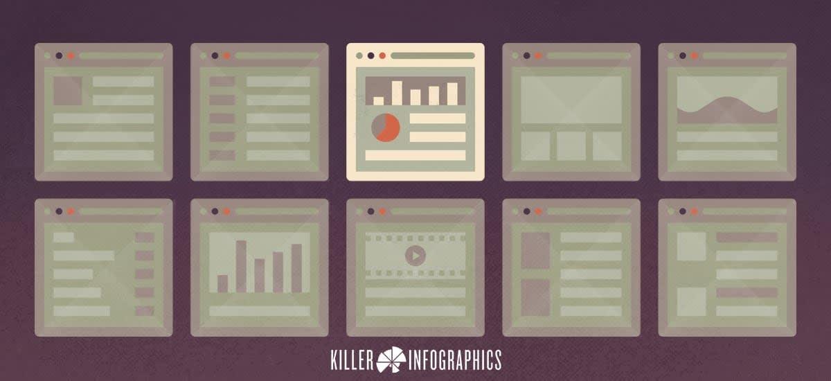 4 content keys data visualization Killer Infographics