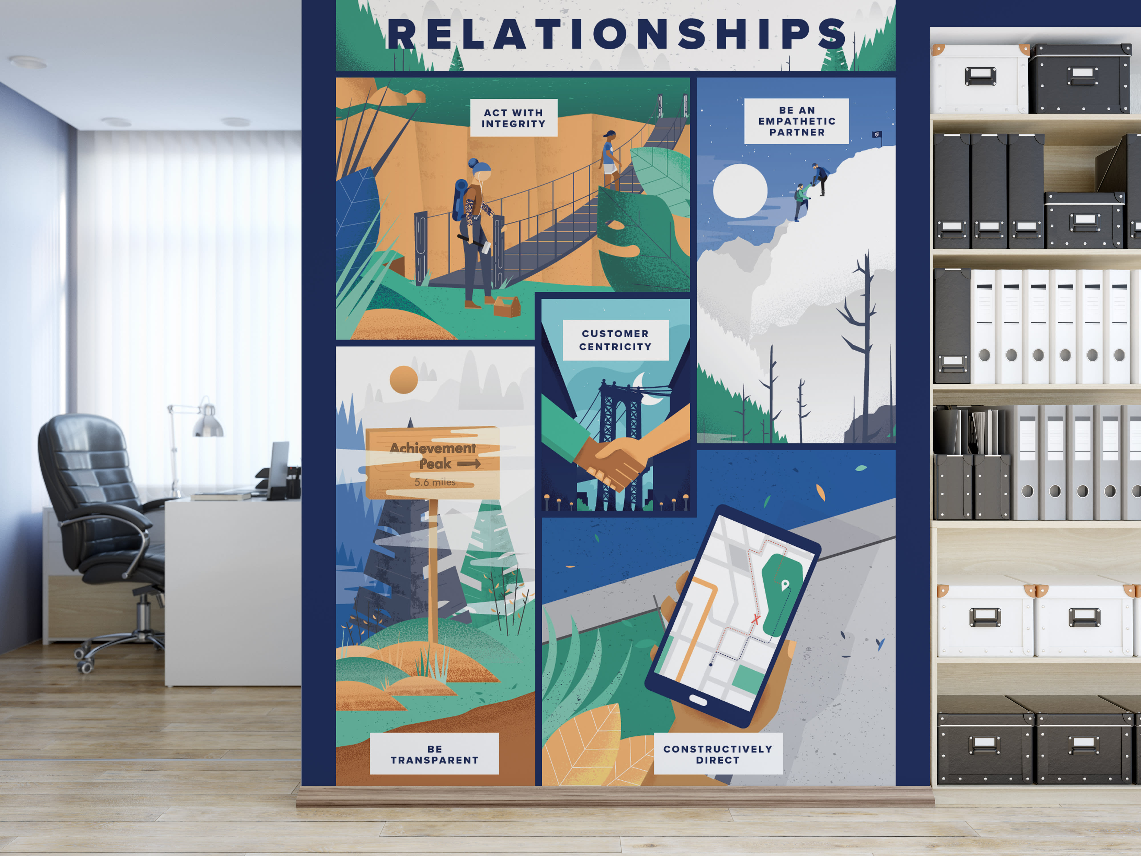 illustrated values mural