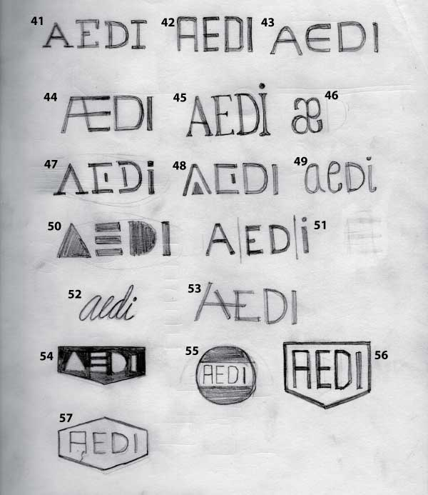 AEDI Logo Concept Sketches