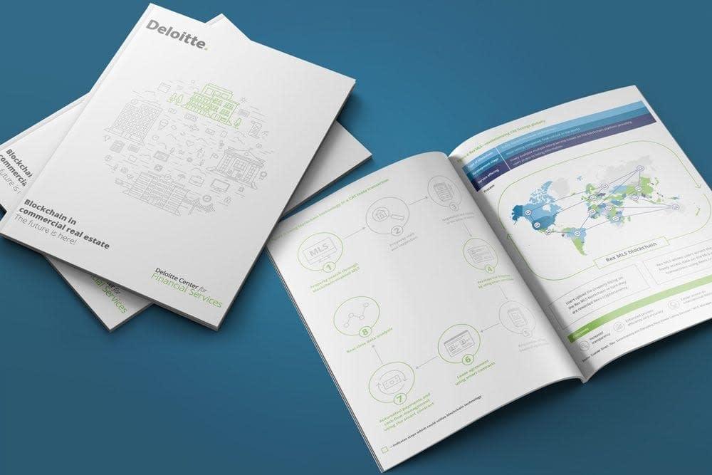 Deloitte Blockchain ebook report design