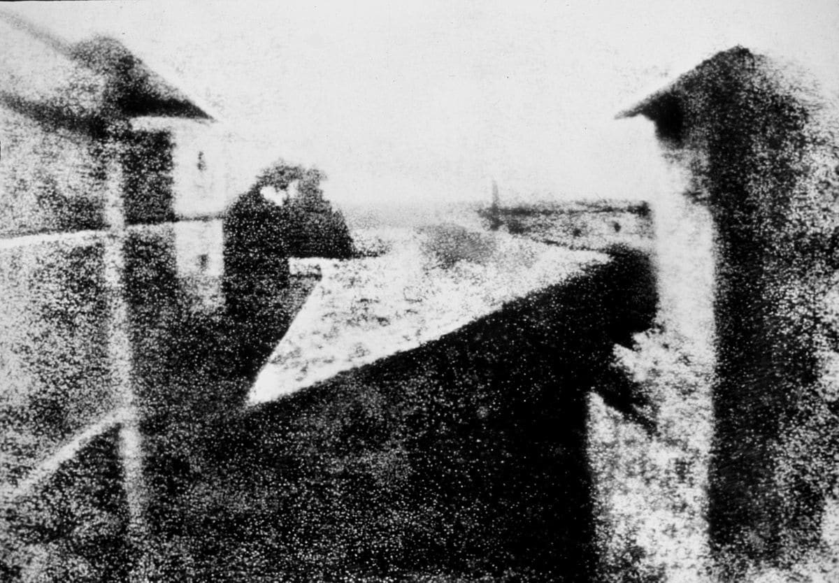 Earliest photograph visual storytelling