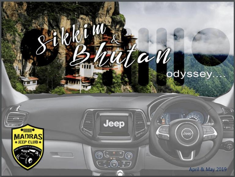 Madras Jeep Club Sikkim Bhutan Trail