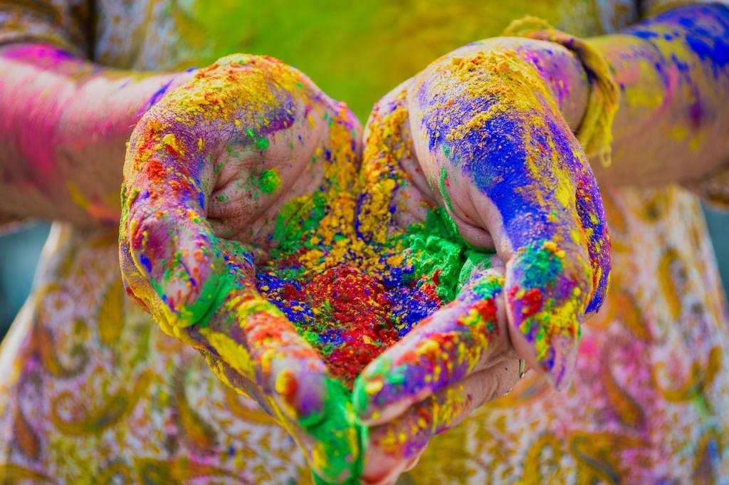 holi indian colors