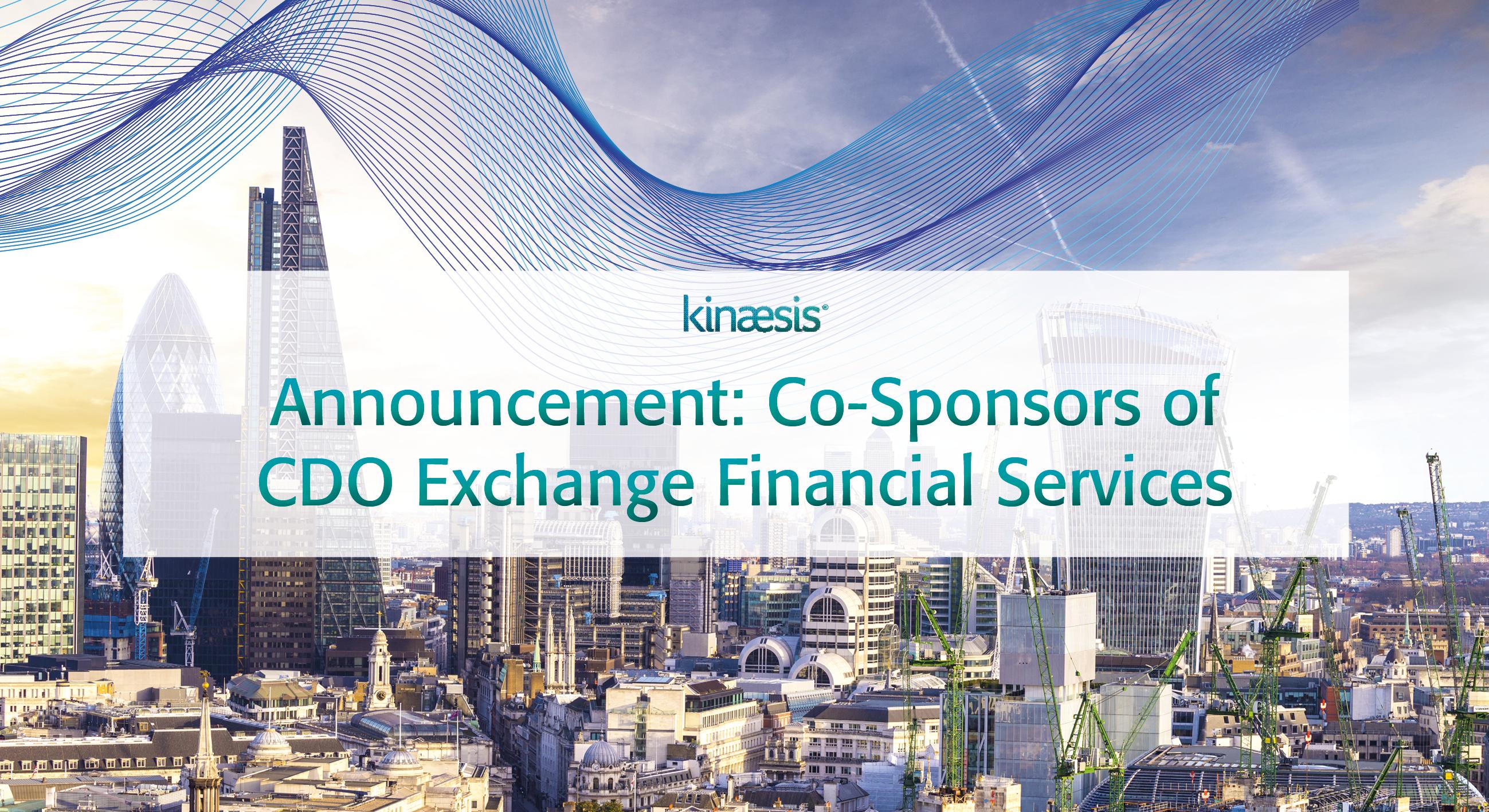 Kinaesis Sponsors CDO Exchange