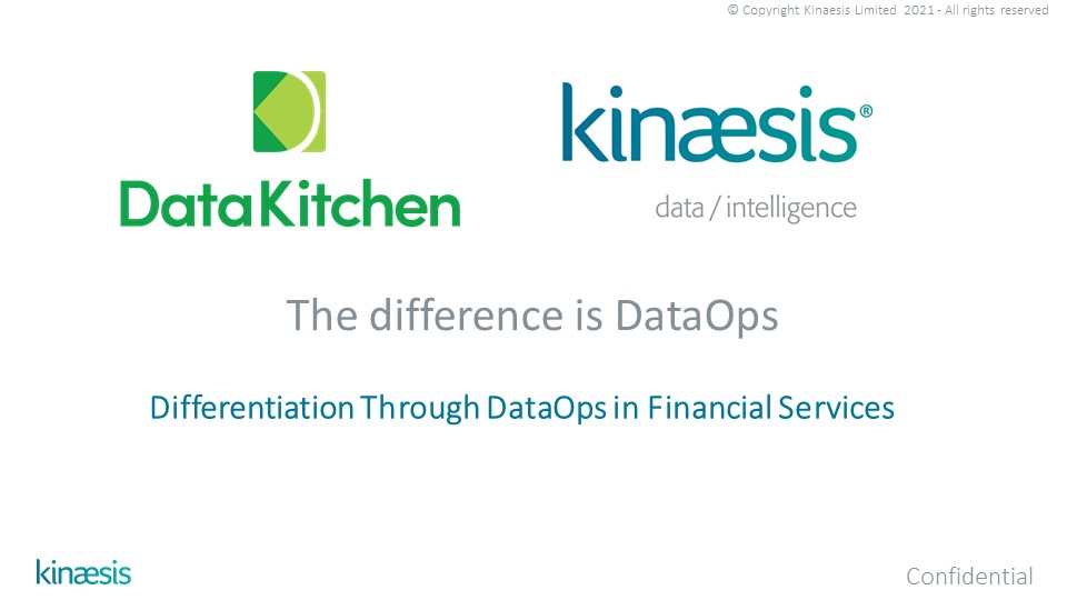 Differentiation Through DataOps in Financial Services